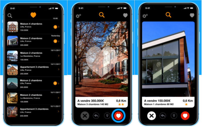 app houzing agence immobiliere digitale startup proptech